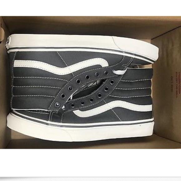 aa6126f085 Vans Sk8 Hi Slim Castlerock Blanc De Blanc Grey+
